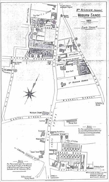 Woburn Sands - Plan from the sale