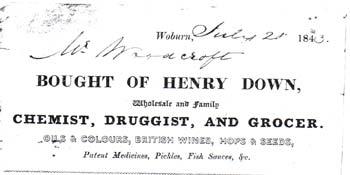 Woburn - Henry Down, Chemist