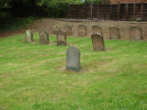 The graves behind Hogsty End Meeting House