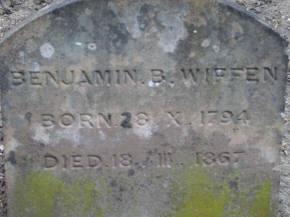 Marker for Benjamin Wiffen