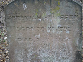Marker for Jeremiah Wiffen