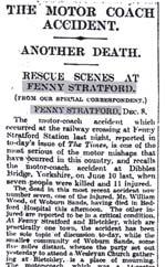 Fenny Stratford press reports