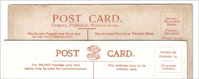 Woburn Sands postcard backs
