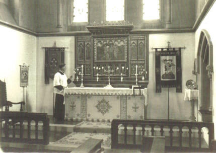 An early view of the interior of St Michaels church