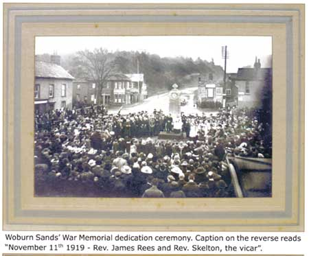 Woburn Sands Memorial - Opening ceremony